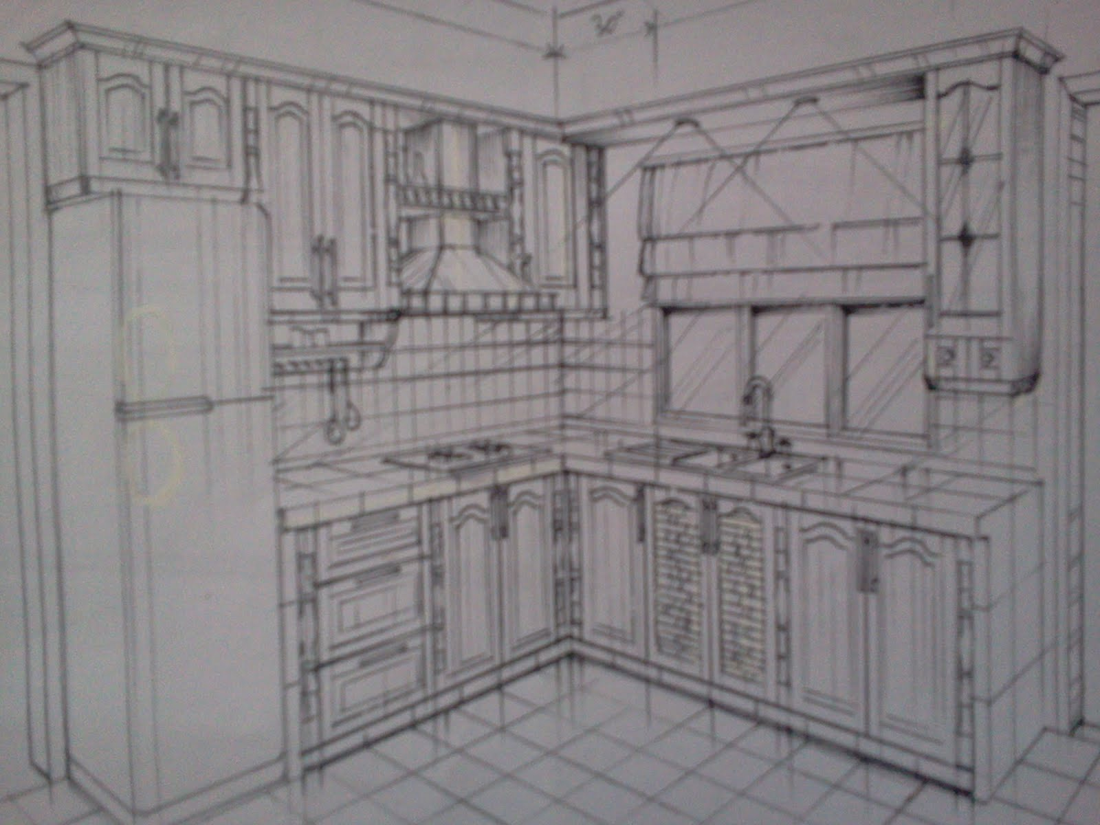 Contoh Lakaran Kabinet Dapur