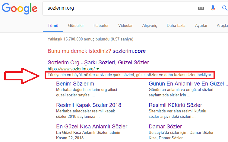 blogger meta ayarları, blogger meta description, blogger meta keywords