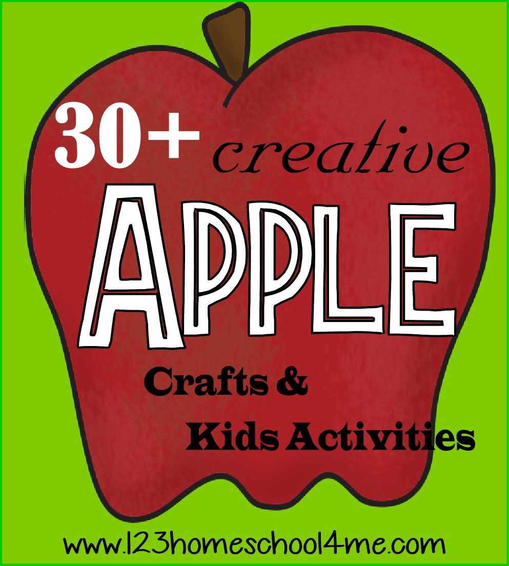 30 Apple Crafts Kids Activities For on Apple Activities For Preschoolers