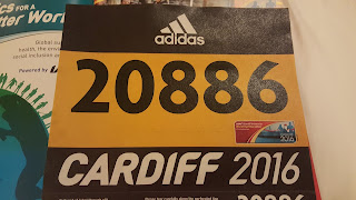 World Half Marathon Championships in Cardiff race number