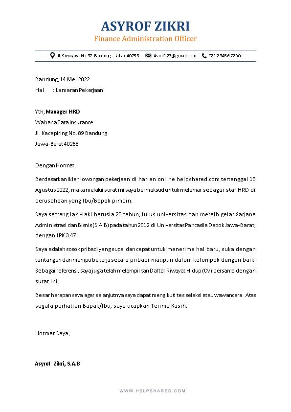 Kop Surat Lamaran Kerja 1