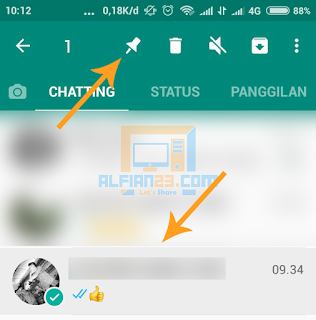 memasang pin di whatsapp