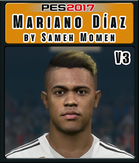 PES 2017 Faces Mariano Díaz by Sameh Momen
