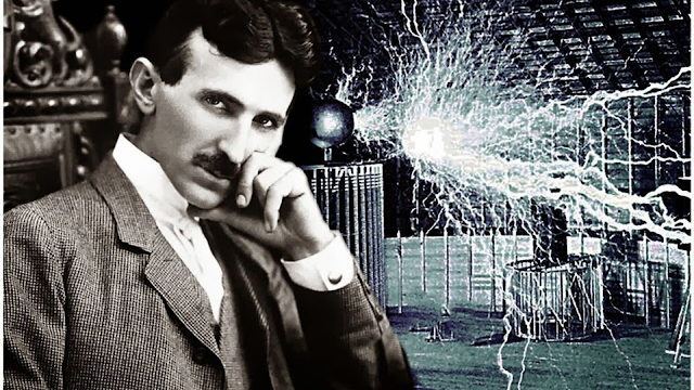Tesla-and-his-electricity-apparatus.