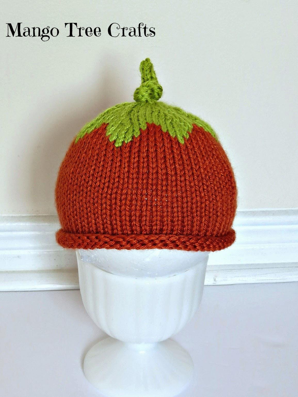 Knitted pumpkin hat pattern