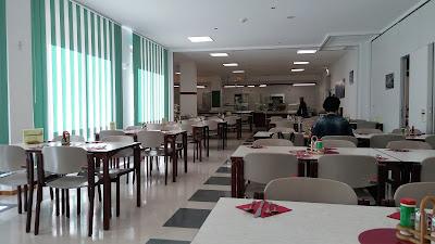 Fotografia do refeitório do BFW Halle