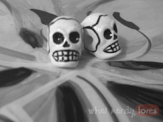 Finds & Treasures: Dia de los Muertos Beads via www.whatmandyloves.com