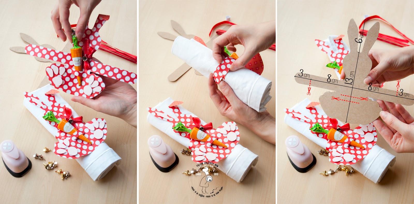 Diy Wielkanocne Dekoracje Serwetniki Follow Creativity Now