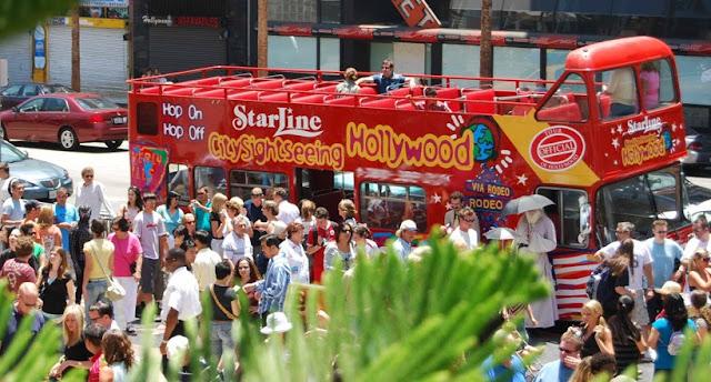 Passeio de ônibus turístico em Los Angeles