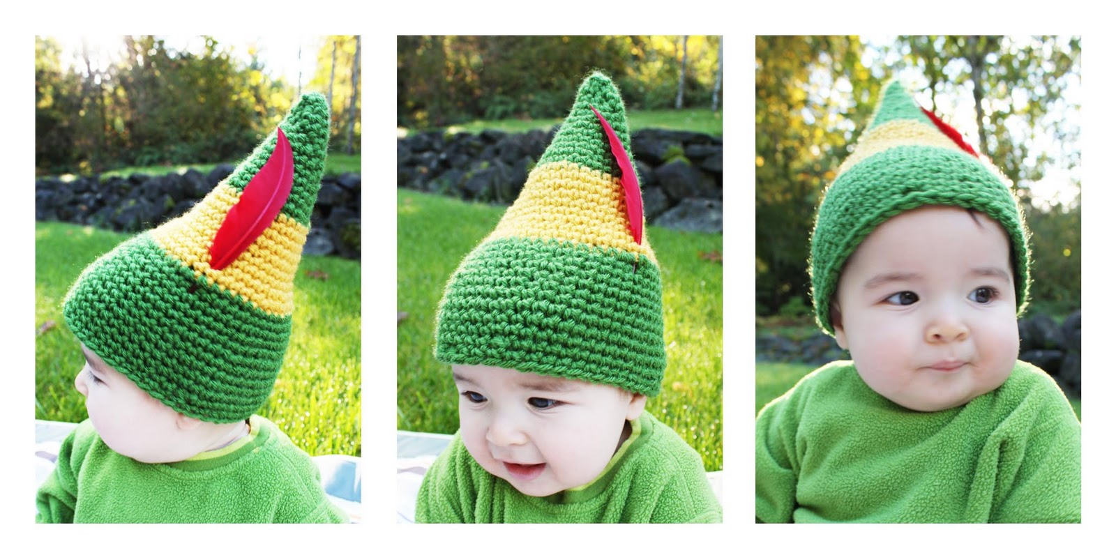 Free Crochet Pattern For Childs Elf Hat : Buddy the Elf Crochet Hat - Repeat Crafter Me