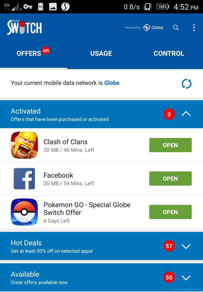 How to Use Globe Switch App to Get Free Internet and Promo