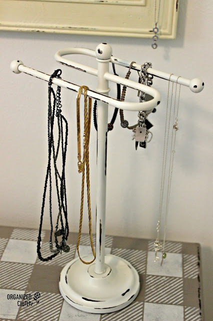 Upcycled Hand Towel Jewelry Holder organizedclutter.net