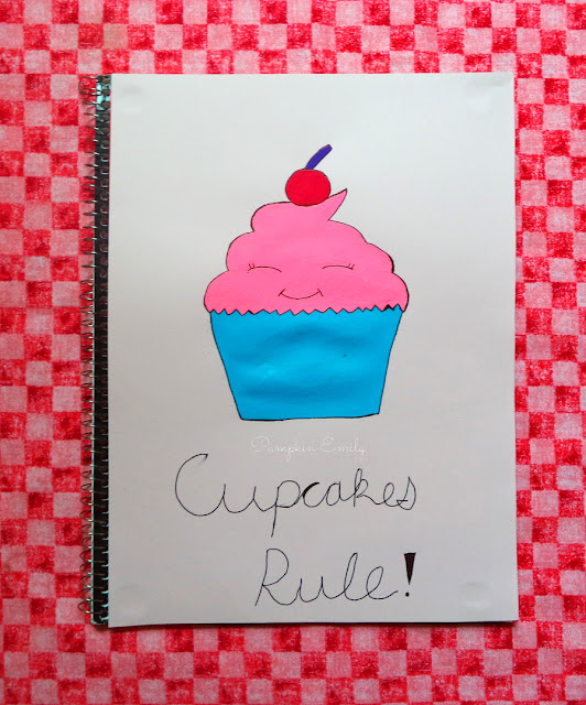 Cupcake Notebook Cover
