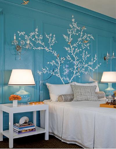 pared dormitorio azul