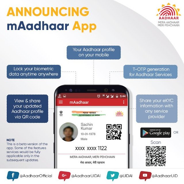 mAadhaar - Android App - Now carry Aadhaar on your mobile