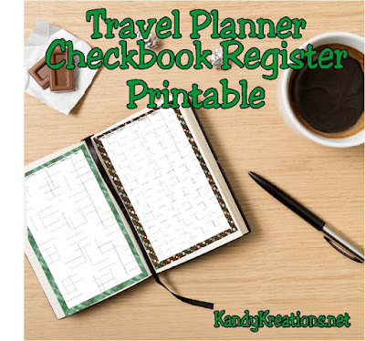 Be organized while on the go with a checkbook register that can be printed at home for your planner.