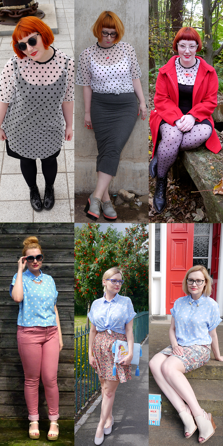 3 wears to wear polka dot tops