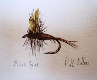 Black Gnat, Pat Kellner, P. H. Kellner, Fishing Art, Fly Fishing Art, Texas Freshwater Fly Fishing, TFFF, Fly Fishing Texas, Texas Fly Fishing