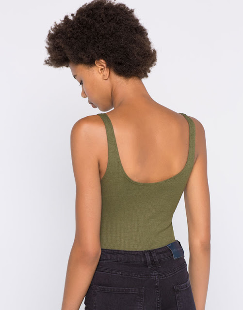 Body canalé de Pull and Bear