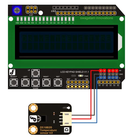 Arduino Lcd Keypad Shield Sku Dfr0009 Dfrobot: Simple Arduino Temperature Meter Circuit