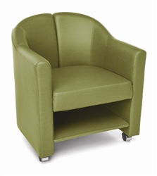 OFM Contour Series Chair with Storage Shelf
