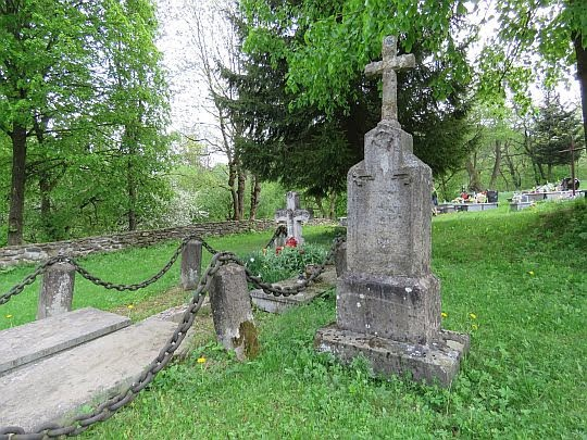 Cmentarz przy cerkwi.