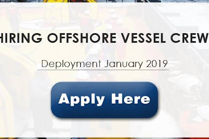 Oiler, Fitter, Cook, Steward, Electrician, 2nd Engineer, Chief Engineer, HSE Officer For Offsohore Vessel