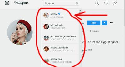 contoh akun yang kena duplikat di instagram