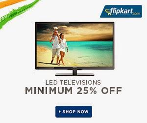 Great Savings on LED TV's: Flat 26% Off+ Cashback of EMI interest