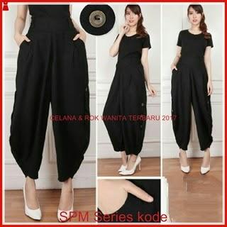 23SPM Setelan Celana Wanita Harems Black Jini Bj6123