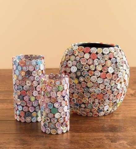 Home Decoration With Newspaper Art Craft Gift Ideas