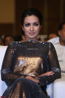 Actress Catherine Tresa in Golden Skin Tight Backless Gown at Gautam Nanda music launchi ~ Exclusive Celebrities Galleries 009.JPG