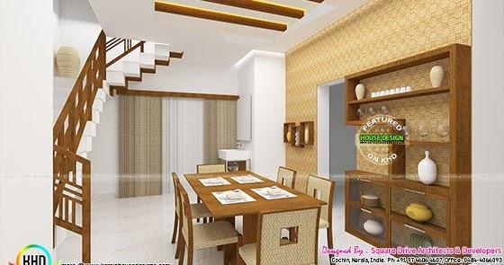 Dining, living bedroom interior designs - Kerala home ...