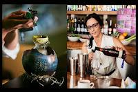 mujer y bebidas