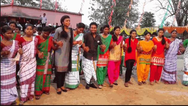 Santali Dabung dance