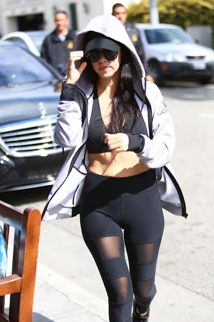 Kourtney Kardashian in Tights and Sports Bra
