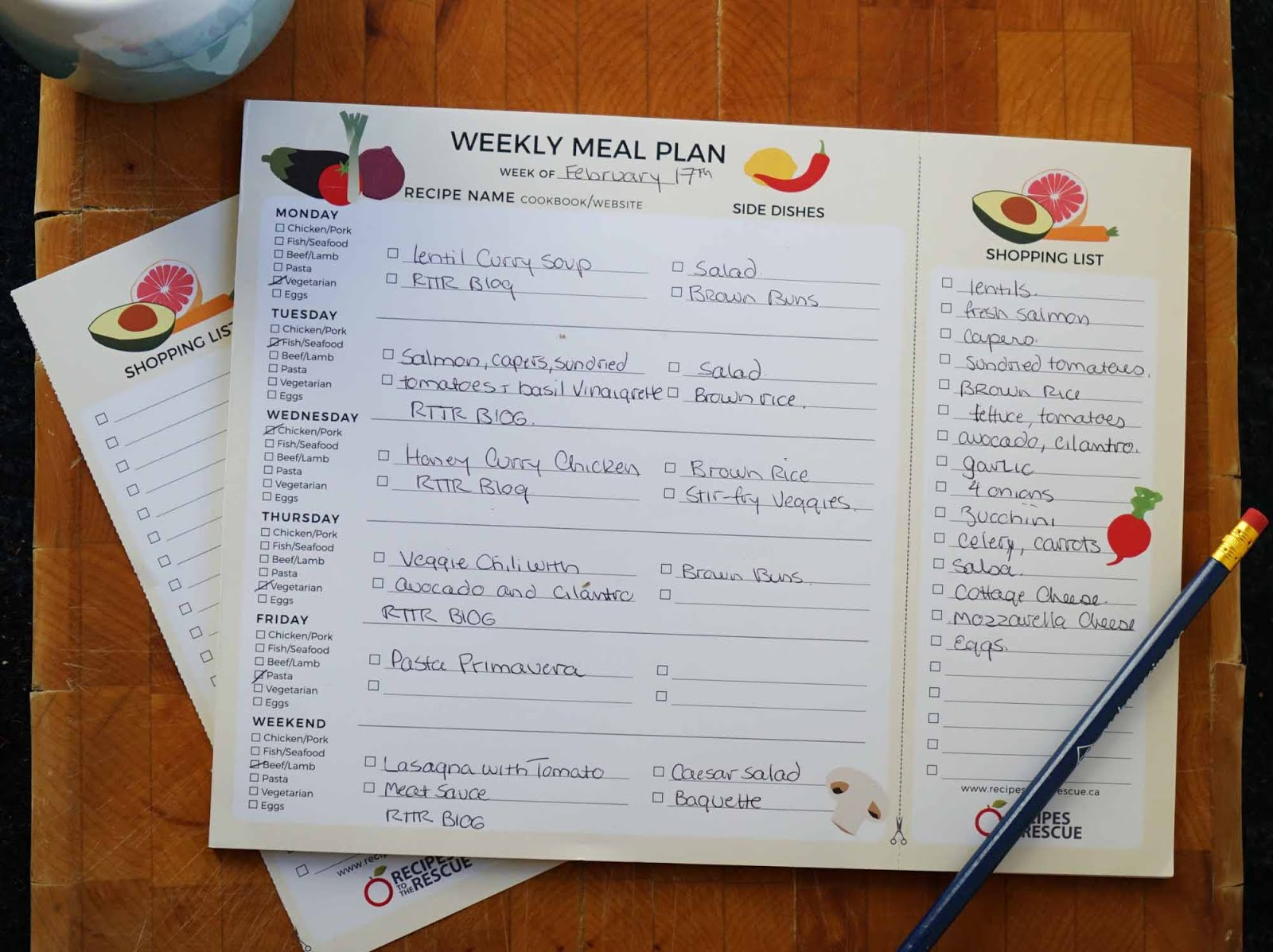 Purchase a Weekly Meal Planner Notepad Today & Make Cooking At Home Easy!