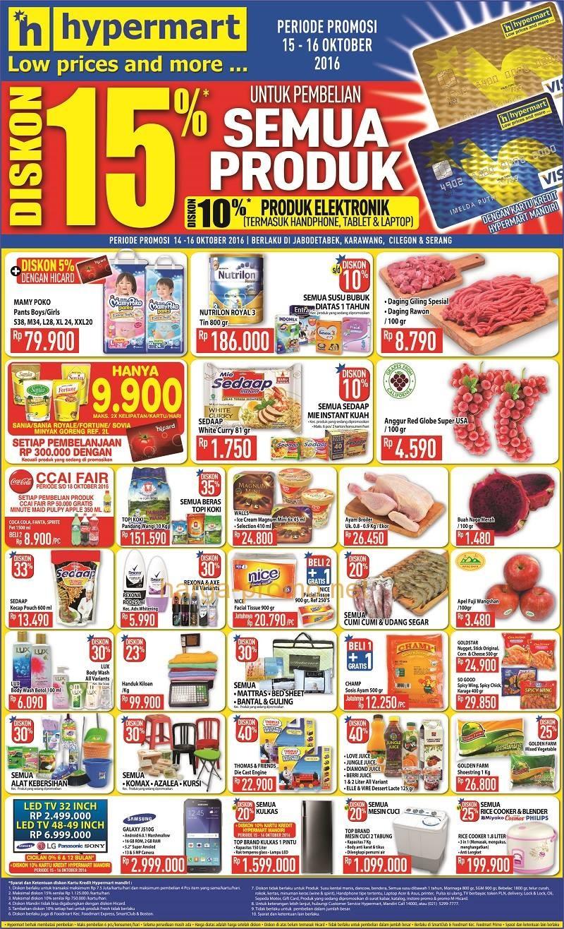 Promo Diskon Supermarket Katalog Promo Hypermart 14 16 Oktober