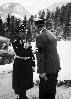Heinrich Himmler Adolf Hitler Berghof worldwartwo.Filminspector.com