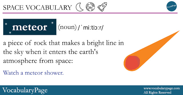 Space Vocabulary - Meteor