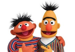 Imagen de Epi y Blas. Simpáticos Muñecos de tela con sus jerseys a rayas