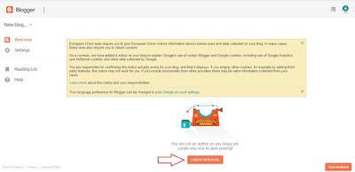 Membuat blog baru di blogger
