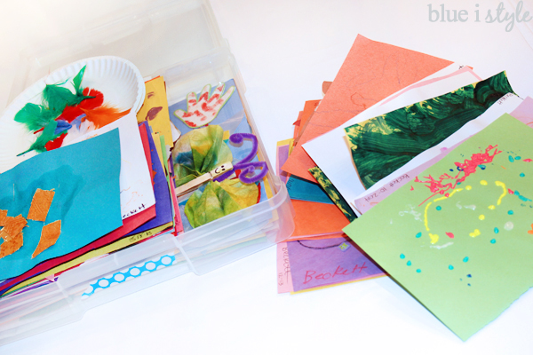 Organize and store kids' artwork
