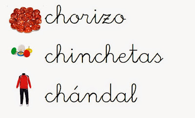 Resultado de imagen de palabras con ch