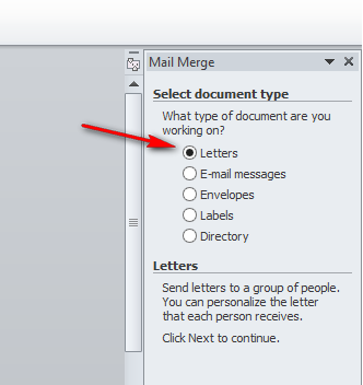 Step 3 Dalam Membuat Mail Merge