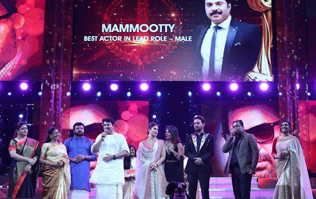 Actor Mammootty won the best actor award for his movie Pathemari