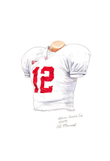 2005 Alabama Crimson Tide football uniform original art for sale
