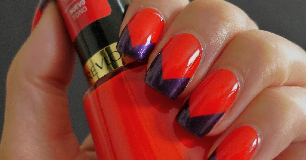 I Relish Nail Polish Chevron French With Revlon S Red Bikini