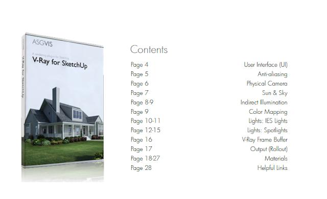 Sách hướng dẫn sử dụng Vray Sketchup mà nhà sản xuất đính kèm theo trong sản phẩm Vray Sketchup 1.48. Sách có đầy đủ các bài hướng dẫn về các thông số Option, Material... Ngôn ngữ: Tiếng Anh