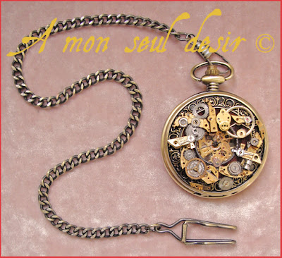montre gousset steampunk pièces de montre mécanique rouages pocket watch steampunk gears watch parts